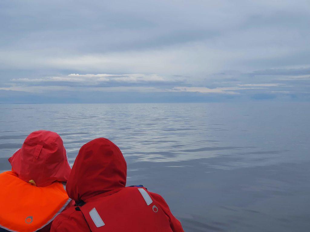 Полный штиль на море при переходе к Сидорову от Сонострова